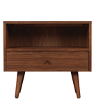 Asher 1 drawer nightstand angled legs