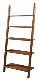 Linden leaning bookcase